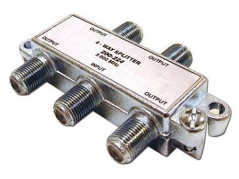 4 Way RF Splitter F - Type